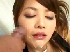 sexy oriental bitch facial cumshots