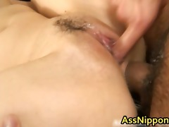 cute youthful oriental engulfing and receives