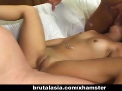 small hottie kat receives her booty destroyed