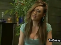 oriental tgirl copulates her redhead bestie