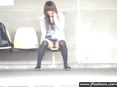 hawt japanese sexy model beauty flashing and