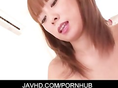 redhead asian chick asuka in constricted pink